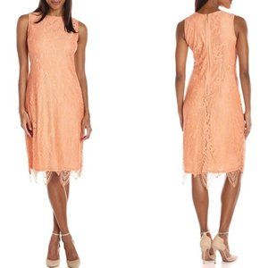 Sharagano Scallped Lace NEW Peach Fancy Frock